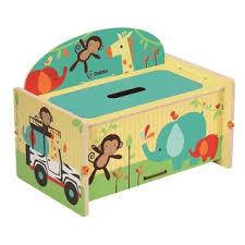 Nathaniel Safari Adventure Toy Storage Bench