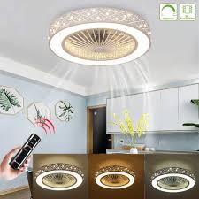 moderne dimmbare lüfterlicht deckenventilator deckenleuchte