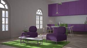 farbiges wohnzimmer wohnzimmer und küche in klassischem