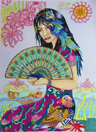 Colored By Jules Cote For Color Me Your Way 4 Coloring Book