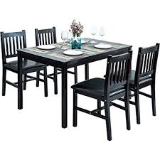 HarperBright Designs 5 Piece Dining Table Set Wood 4 Person Home Kitchen And Chairs