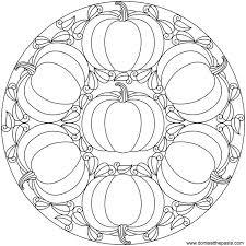 Various Free Halloween Pumpkin Mandala Coloring Page Printable