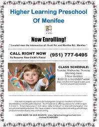 Pumpkin Patch Preschool Santa Rosa Ca by Higher Learning Preschool Of Menifee Now Enrolling Menifee 24 7