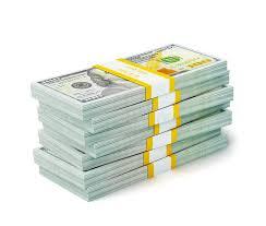 Stack New 100 US Dollars 2013 Edition Banknotes bills S Stock