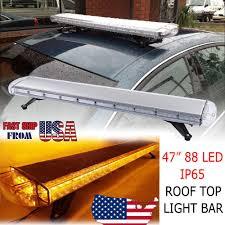 100 Light Bars For Tow Trucks 47 Emergency Beacon Warn 88 LED Bar Truck Plow Response