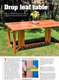 2670 Drop Leaf Dining Table Plans Furniture Plans