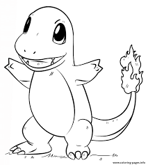 Charmander Pokemon Go Coloring Pages Print Download