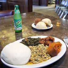 A Typical Nigerian Supper At Finger Licking Bukateria With Egusi And Fufu Up Front