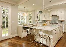 kitchen design eat in kitchen beige booth cushions breakfast