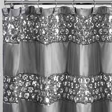 Black And White Flower Shower Curtain by Shower Curtains U0026 Rods Extra Long Shower Curtains Jcpenney