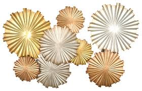 Astounding Ideas Gold Metal Wall Decor Plus Get The Deal Three Hands 10116 Tropical Leaves Golf Heart