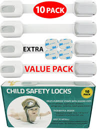 Drill In Cabinet Door Bumper Pads by Amazon Com Child Safety Locks Value Pack 10 Straps No Tools