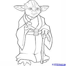 Star Wars Yoda The Art Gallery Coloring Pages
