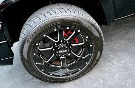 100 Gear Truck Wheels 2007 Chevy Silverado 2500HD Bad In Black