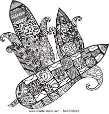 Three Corns With Beautiful Doodles Exotic Hand Drawn Vector Illustration Coloring Book