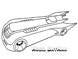 Batman Car Coloring Pages