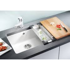 Blanco Sink Strainer Replacement Uk by Blanco Subline 500 U Ceramic Puraplus 530x456mm Single Bowl