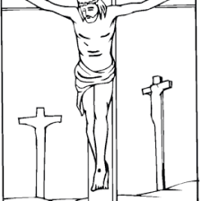 Jesus Crucified On The Cross Coloring Page