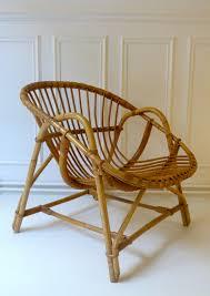 siege en rotin fauteuil en rotin vintage des 60 triptyque co bidart home