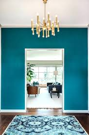 Turquoise Accent Wall Bedroom Ideas Dining Room Tropical