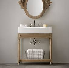 Restoration Hardware Mirrored Bath Accessories by Weathered Oak Single Console Sink Restoration Hardware For Powder