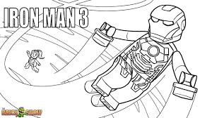 Lego Iron Man 3 Coloring Page Printable Sheet Marvel Super