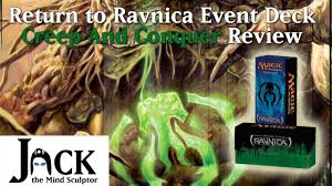 return to ravnica event deck creep and conquer review youtube