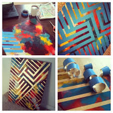 Arresting Tape For Paint Designs Then Diy Painting Canvas Colors Design With