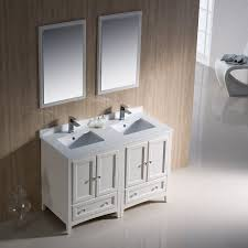 48 Cabinet With Drawers by Fresca Bath Fvn20 2424aw Oxford Double Vanity Sink 48