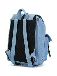 Mickey Blue Cotton Blend Denim Backpack From Herschel Supply Co Men Backpacks Travel Accessories