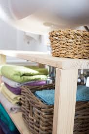 diy waschbeckenregal für das badezimmer bauen green bird