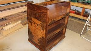 Walnut Burl Book Cart