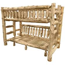 Bunk Bed Over Futon by Log Bunk Beds For Kids Cabin Log Bunk Beds Log Queen Bunk Beds