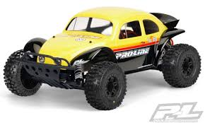 100 Slash Rc Truck ProLine 323862 Volkswagen Baja Bug Body For Short Course