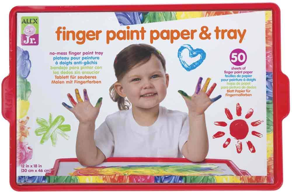 Alex Tots Finger Paint Paper and Tray