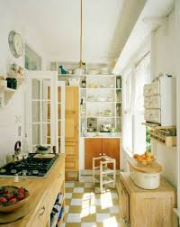 Narrow Kitchen Ideas Uk by Kitchen Charming Small Kitchen Design With Brown Maple Wood Galley