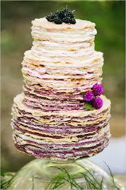 Ombre Color Wedding Cake Via Weddingchicks