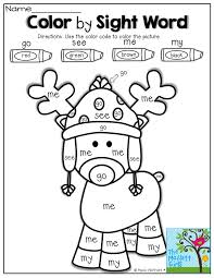 Color By SIGHT WORD Tons Of FUN Interactive And Engaging Printables Christmas ActivitiesKindergarten