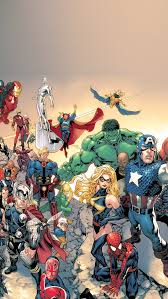 Marvel ic Book Characters iOS7 iPhone 5 Wallpaper HD Free