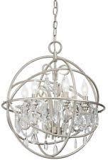 Item 2 Kichler Vivian 1902 In 6 Light Brushed Nickel Clear Glass Globe Chandelier