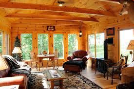 Sunroom Rustic Family Room