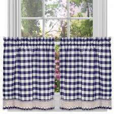 Waverly Fabric Curtain Panels by Curtains Waverly Plaid Valances Gingham Kitchen Curtains Window