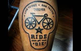 Live To Ride Bicycle Tattoo