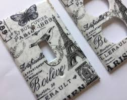 Paris Decor Light Switchplate Cover Bedroom Nursery French