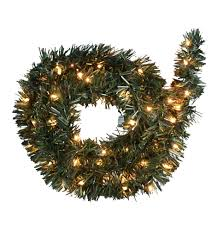 Holiday Time 18 Ft Pine Garland Clear Lights Easy Installation