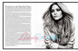 Mary Kate Olsen FASHION MAGAZINE Prune Posing