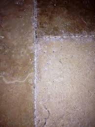 travertine brushed chiseled and unfilled installation