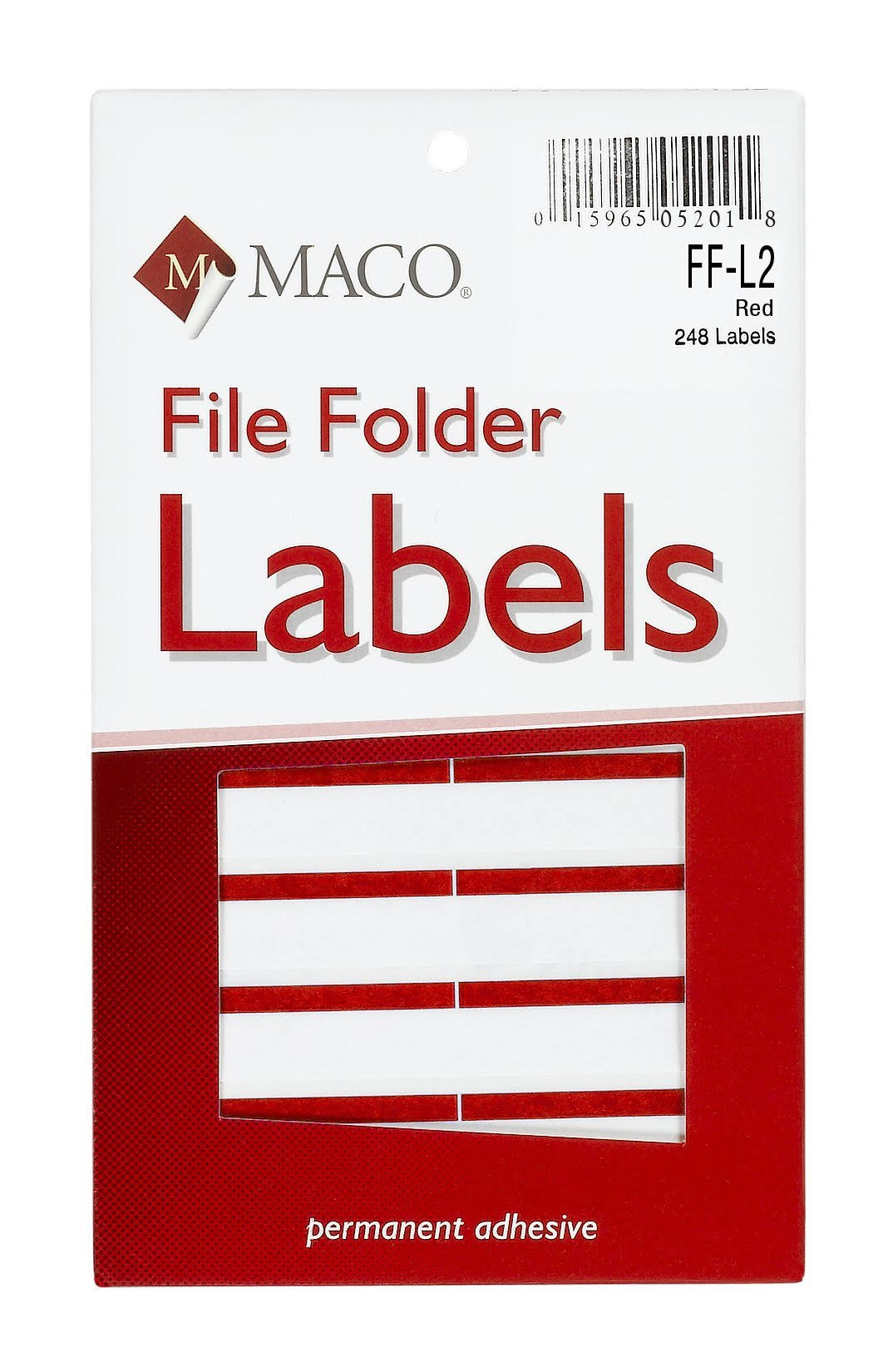 Maco File Folder Labels - Red