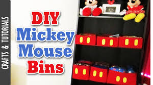 Mickey Mouse Bedroom Curtains by Diy Mickey Mouse Bins Room Decoration The290ss Youtube