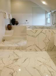 calacatta porcelain tile bathroom oro marble floor ideas